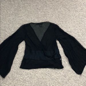 The limited  100% silk blouse navy